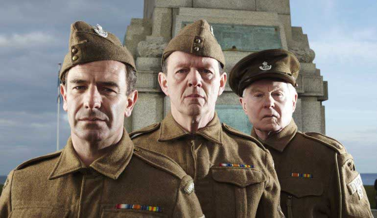 Robson Brown, Kevin Whately and Sir Derek Jacobi in Joe Maddison's War