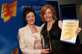 Emily Barber at the RTS NE awards 2008